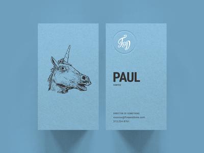 F&D Business Cards - Unicorn