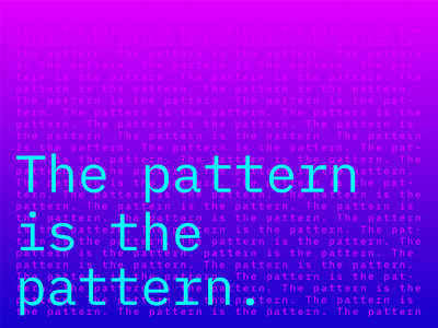 The Pattern is the Pattern tv show poster art poster graphic design ux ui typography maniac netflix