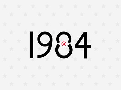 1984 book novel 1984 vector illustration logo typography design uiux ui graphic design