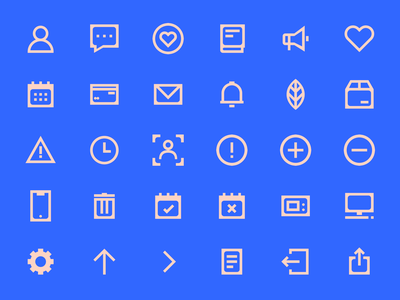 Icons Library (WIP) illustration flat icons svg simple flat set branding minimal pixel perfect vector design ios icon set iconset icons icon iconography app design components app