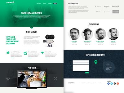 Curupaco Landing Page Proposal - WIP user interface webdesign green onepage landingpage landing page design portfolio header