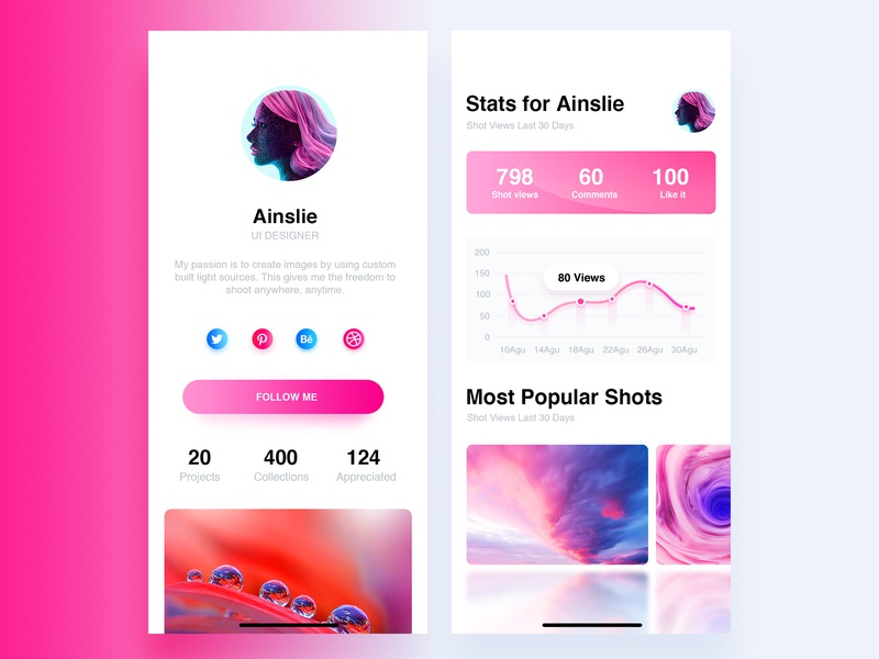 App UI data design color ui app