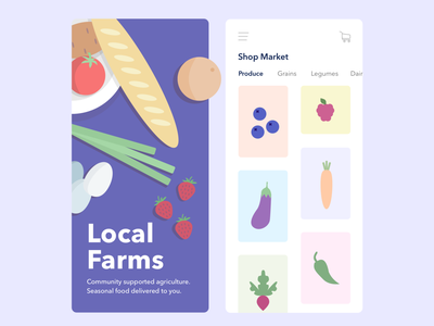 Local Farms market produce ui