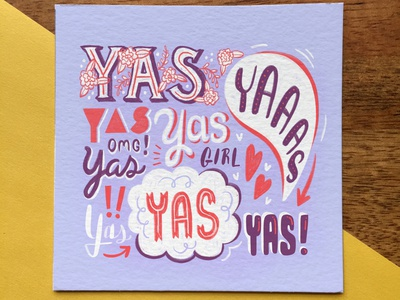 YAS GIRL typography procreate lettering surface pattern pattern yas procreate illustration digital illustration digital painting digital art hand drawn lettering handlettering