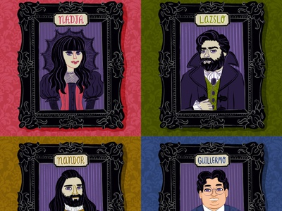 What We Do in the Shadows monsters lazslo guillermo del toro nadja nandor theshadowsfx halloween spooky vampire character design artwork art digital illustration digital art portrait illustration fan art