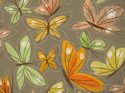 Butterflies pattern dribbble