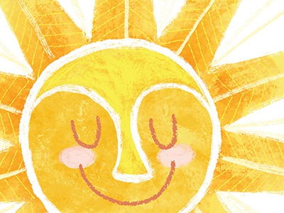 You Are My Sunshine sun illustration texture yellow bright childrens art