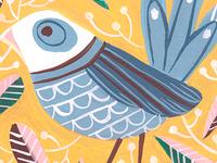 Funny Little Blue Bird
