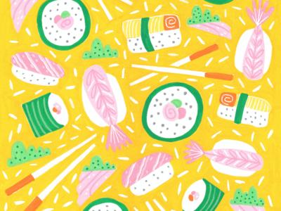 Sushi & Nigiri Pattern Design