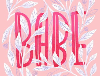 Babe digital painting drawing artwork art illustration digital art digitalartist valentine day typography pattern design surface pattern surface design art licensing hand lettering handlettering babe