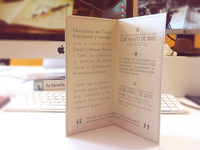 Printed! Clean wedding invitation