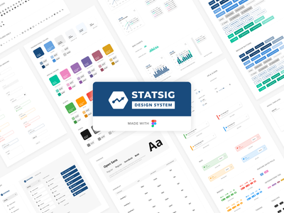 Statsig Design System components design system figma ux design ui