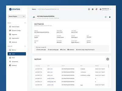 Users data tables dashboard figma ux app design ui