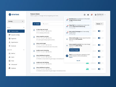Various Header Elements (Notifs, Search, Resources) components header notifs notification dashboard figma ux design ui