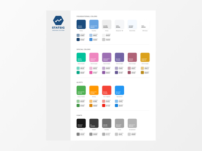 Statsig Colors for Console chart graphs data b2b palette design system color