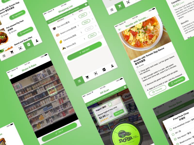 Grocery HelpAR Application food application beautiful publix green grocery ux ui design app