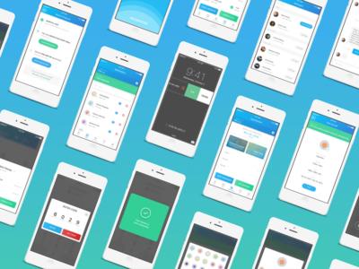Medminder Application food application beautiful pills blue green medicine ux ui design app