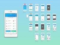 MedMinder App - User Flow Diagram diagram application health beautiful flow user pill medicine ux ui design app