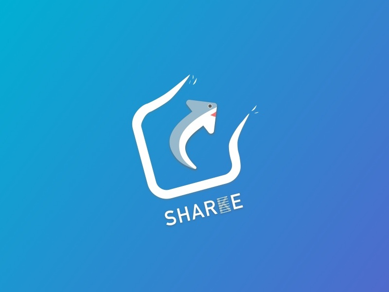 Daily UI Challenge #10 — Social Share design icon blue social share shark logo sketch ux challenge ui daily