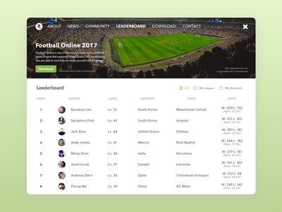 Daily UI Challenge #19 - Leaderboard 2d app download ranking football soccer design ux leaderboard challenge ui daily