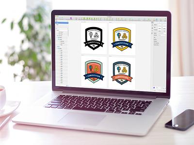 Sticker Design with Sketch showcase template branding swag sketch sticker design ux ui