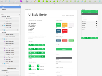 Home Automation Style Guide mobile app iot ui design automation home guide style
