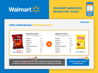 Walmart Hologram UI Design