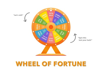 Wheel of Fortune Design palette rotate creative debut chance gamble fortune of wheel design ux ui