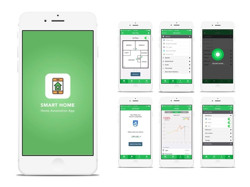 Smart Home App Design Dribbble Ui Howldb