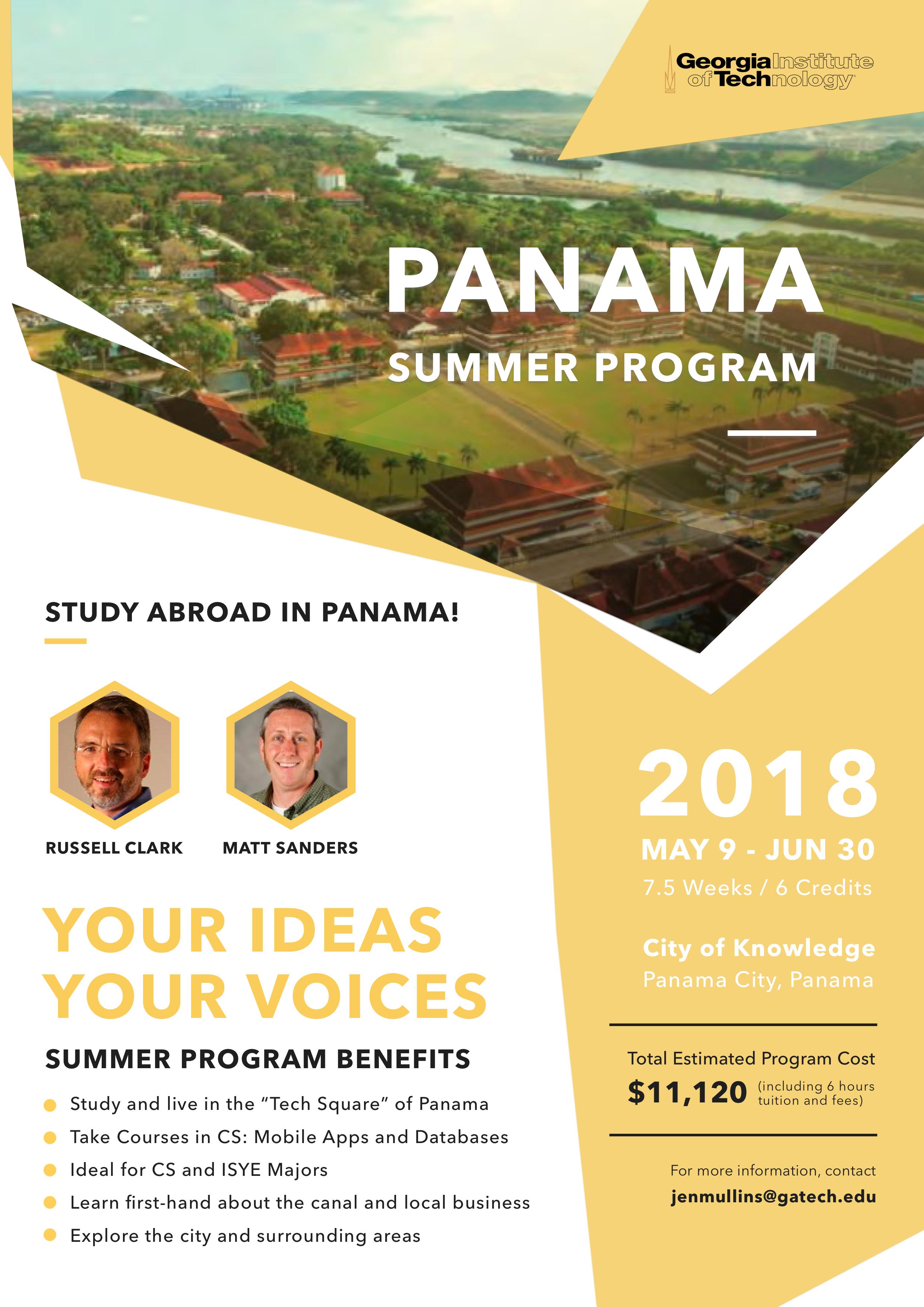 Panama summer program flyer