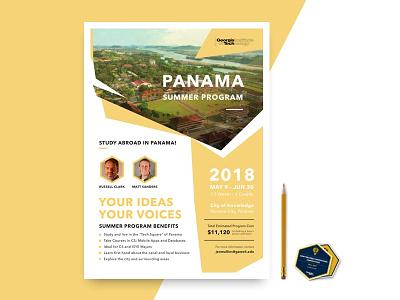 Panama Summer Program Flyer - Georgia Tech typography a4 panama summer visual pamphlet poster flyer ux ui design graphic