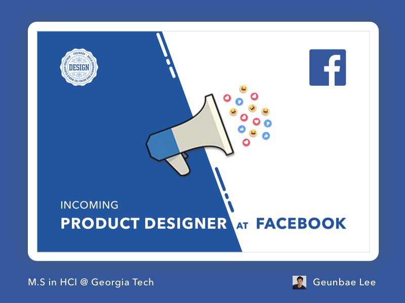 [Accepted Job Offer] Facebook Product Designer emoji reaction megaphone card congratulations offer job design product facebook ux ui