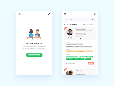 Recruiting - Applicant Management App intern experience user management applicant recruiting application challenge daily design ux ui