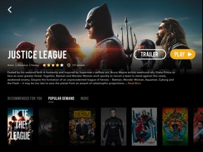 Daily UI Challenge #25 — TV App (Justice League)