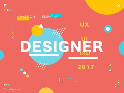 Designer - colorful poster exploration creative geometry layout ui typography color design designer poster