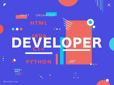 Developer - colorful poster exploration creative geometry layout ui typography color design designer poster