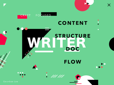 Writer - colorful poster exploration creative geometry layout ui typography color design designer poster