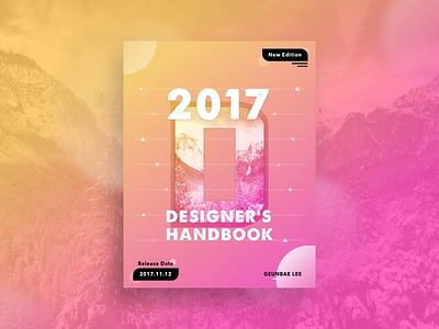 Designer Handbook Poster Concept booklet creative geometry layout ui typography color design designer poster