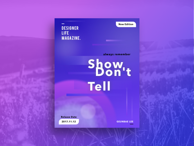 Show, Don't Tell Poster Concept booklet creative geometry layout ui typography color design designer poster