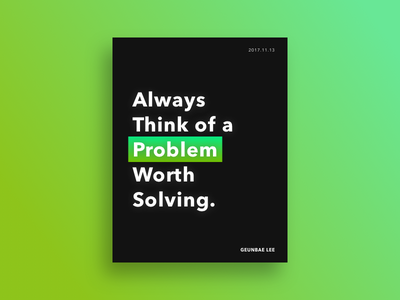 Designer Quote Poster #2 booklet creative geometry layout ui typography color quote designer poster