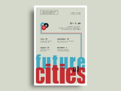 [Future of Cities] Poster Concept #3 unique layout typography showcase poster smart cities of future
