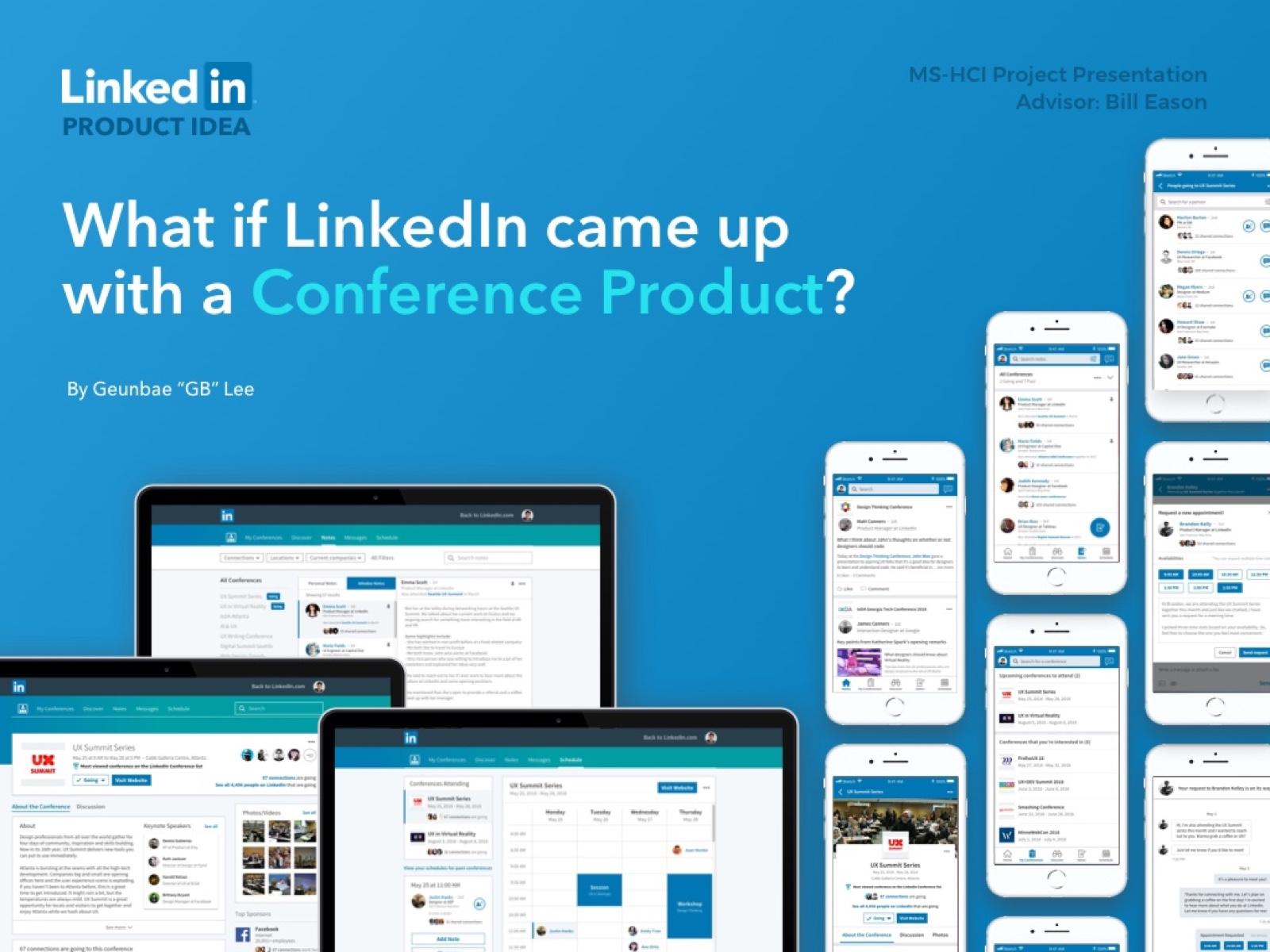 Linkedin conference app
