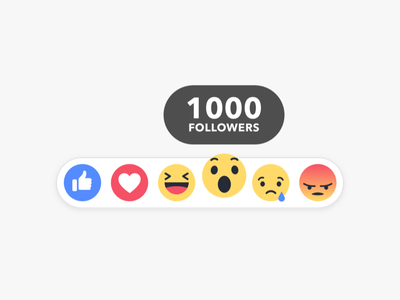 "Reached ""1000"" Followers on Dribbble !! :o facebook icon sketch follower followers logo illustration web design"
