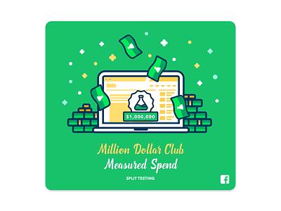 Facebook Ads - Split Testing Stickers #2 facebook swag illustration sticker design sticker