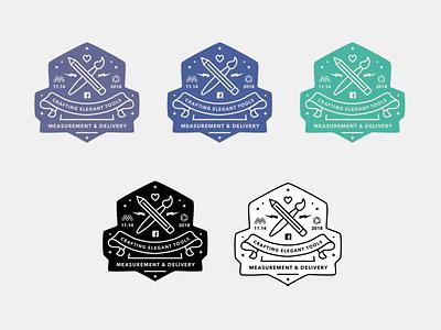 Measurement & Delivery Stickers #2 banner swag sketch sticker design sticker design