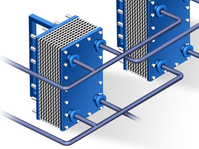 Plate Heat Exchanger by Yang ZuoPeng on Dribbble