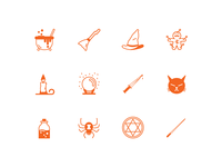 Witch Tools icon set 1