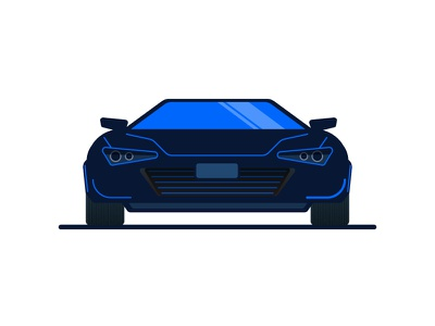 Coupe vector art icon sports car coupe car