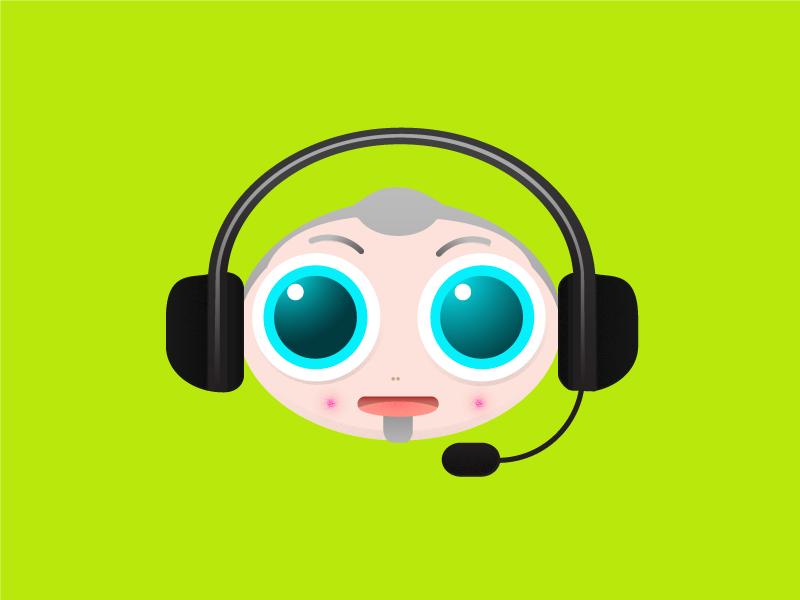 Customer Service Avatar face vector icon emoplyee office customer service avatar customer service