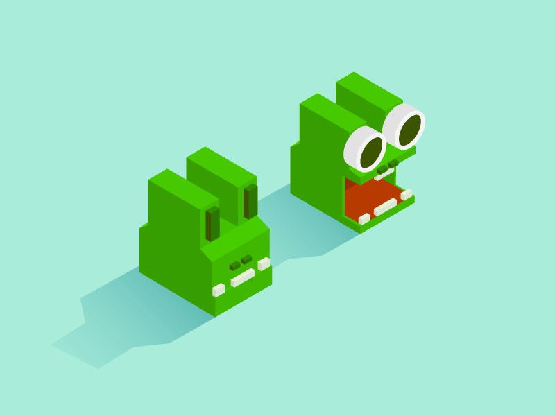 Zookeeper - Alligator iso zookeeper video game messenger mobile game isometric alligator facebook  game cute animal